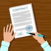 Signing a contract Business meeting