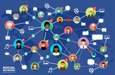 Social Networks Internet communication vector