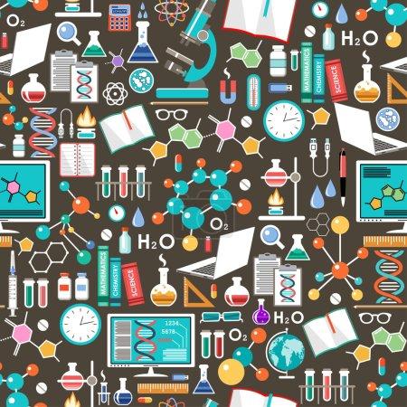 Photo pour Modèle chimique et scientifique sans couture. Illustration vectorielle - image libre de droit