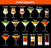 Cocktail infographics Ingredients