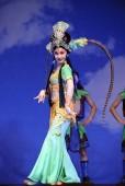 Docela čínské tradiční herečka s divadelní kostým