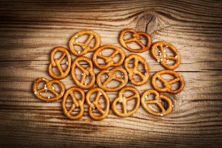 Salted pretzel snacks