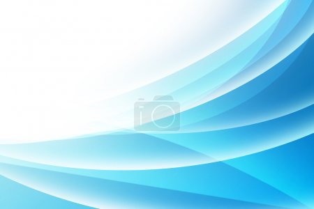 Blue Curved Abstract Background