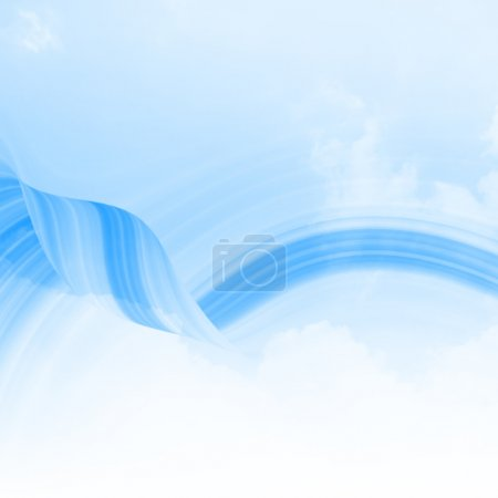 Photo for Blue Curved Abstract Background - Royalty Free Image