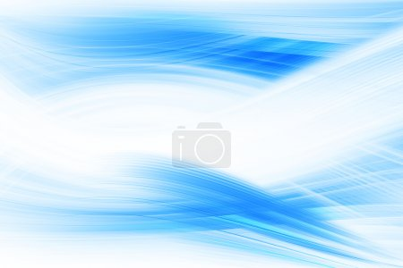 Photo for Abstract Blue Curves Background - Royalty Free Image
