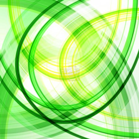 Photo for Green Abstract Spiral Background - Royalty Free Image