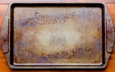 Old oven baking tray