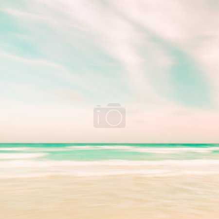 Photo for Abstract sky and ocean nature background with blurred panning motion, retro look. - Royalty Free Image