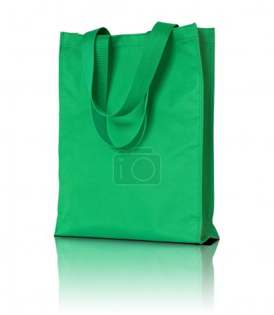 green shopping fabric bag