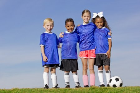 Young Kids on a Soccer Team
