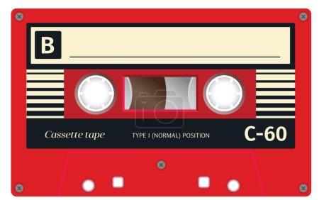 Retro plastic audio cassette, music cassette, cass...