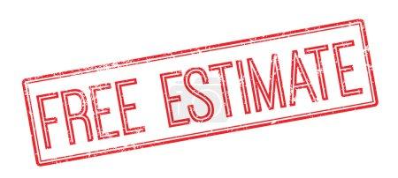Illustration pour Estimation gratuite tampon caoutchouc rouge sur blanc. Imprimer, impressionner, surimprimer . - image libre de droit