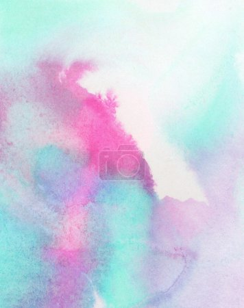 Photo for Abstract light colorful watercolor background - Royalty Free Image