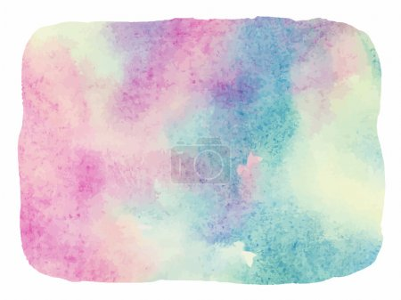 Light colorful watercolor background. Painted rectangle