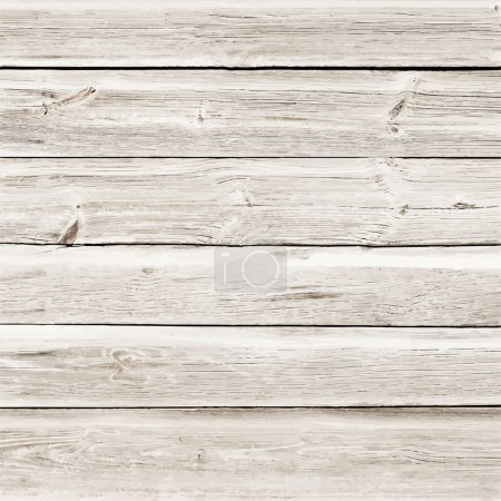 Light wooden texture with horizontal planks or table, floor surface. Vector illustration