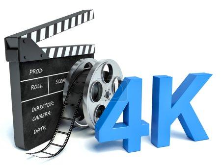 Photo pour Technologie de télévision 4K ultra haute définition - image libre de droit