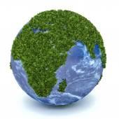 3D zelená planeta Afrika