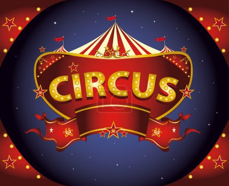 Red night circus sign