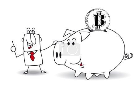 Sparschwein und Bitcoin