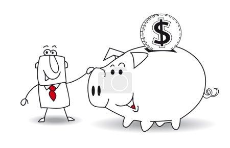 Sparschwein und Dollar