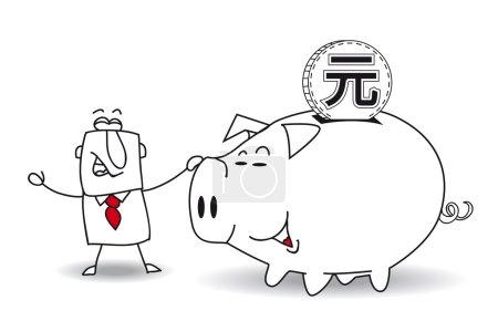 Sparschwein und Yuan