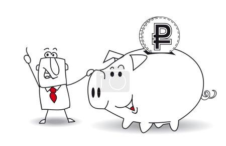 Sparschwein und Rubel