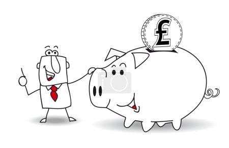 Sparschwein und Pfund Sterling