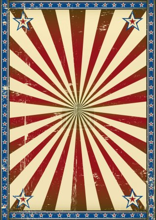 Retro poster patriotic background