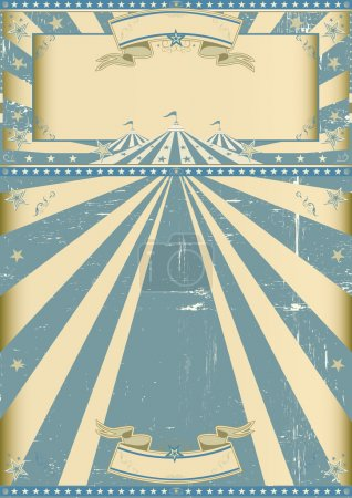 Vintage circus blue show
