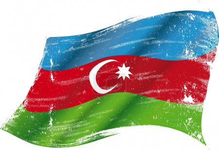 Azerbaijan grunge flag grunge flag