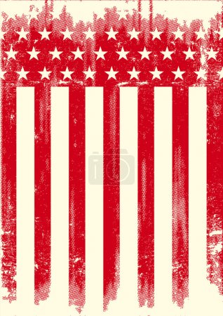 American Style red poster