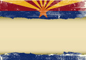 Arizona horizontal scratched flag