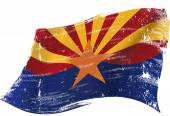 A flag of Arizona with a grunge texture