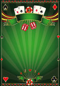A green poster casino for your poker tournament