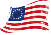 Betsy Ross flag grunge