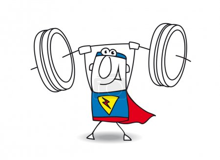 Superhero weight lifter
