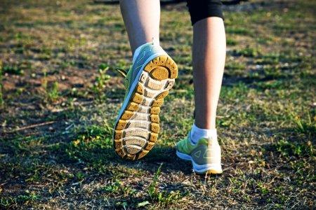 Girl jogging outside