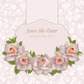 Background with bouquet of roses with leaves Retro background with bouquet of roses with leaves Perfect fgreeting cards and invitations of the wedding birthday Valentine's Day Mother's Day