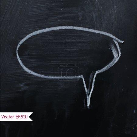 Speech bubble on vector chalk board background