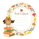 Back to school background, vector illustration...