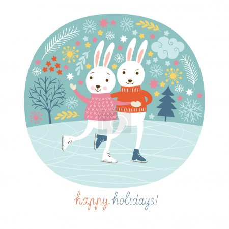 Illustration for Christmas illustration. Vector illustration - Royalty Free Image