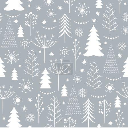 seamless gray Christmas pattern