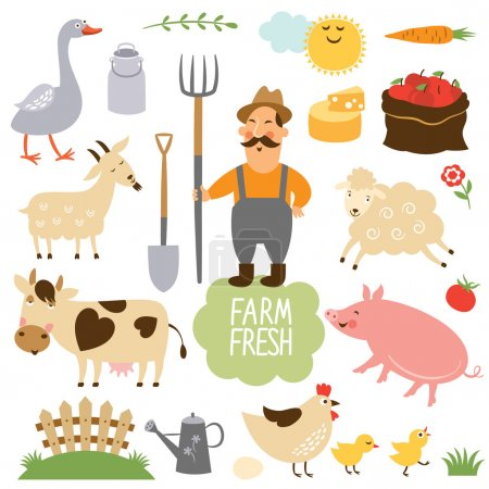 farm animals and related items