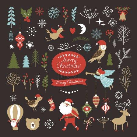 Big Set of Christmas graphic elements