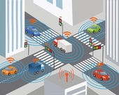 Communication that connects cars to devices on the road such as traffic lights sensors or Internet gateways Wireless network of vehicle Smart Car