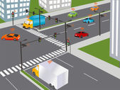 Communication that connects cars to devices on the road such as traffic lights sensors or Internet gateways Wireless network of vehicle Smart Car Traffic and wireless network Intelligent Transport Systems