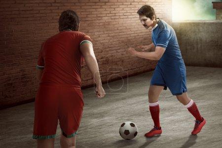 player dribbling ball