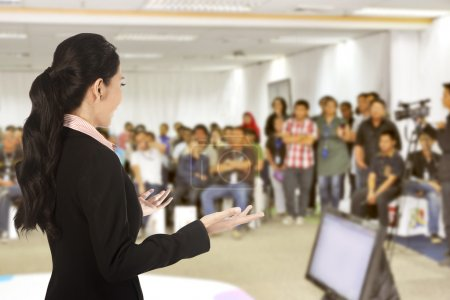 Speaker at conference and presentation