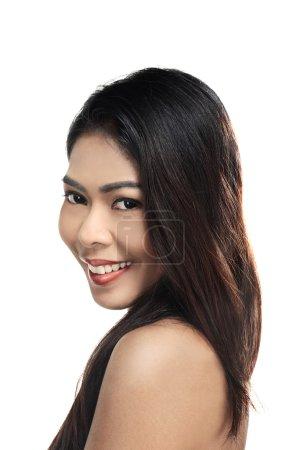 Beautiful asian woman with clean skin