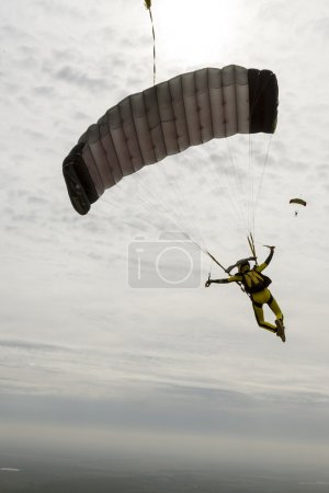 girl parachutist  pilots